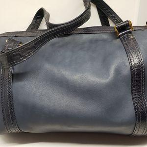 Bottega Veneta Blue Leather Handbag